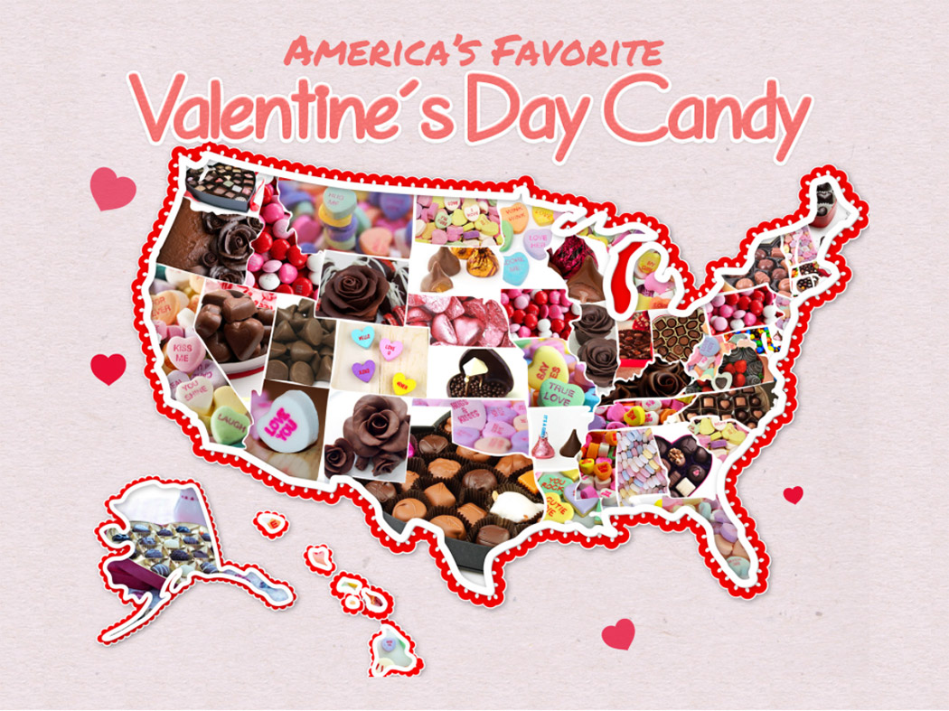 America S Favorite Valentine S Day Candy By State Food Wine