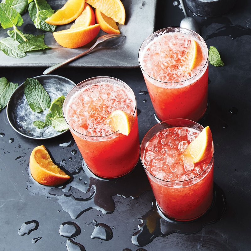 Strawberry-Rum Coolers