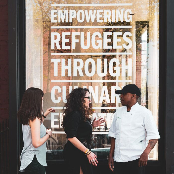 new york city welcomes refugees into its kitchens food wine