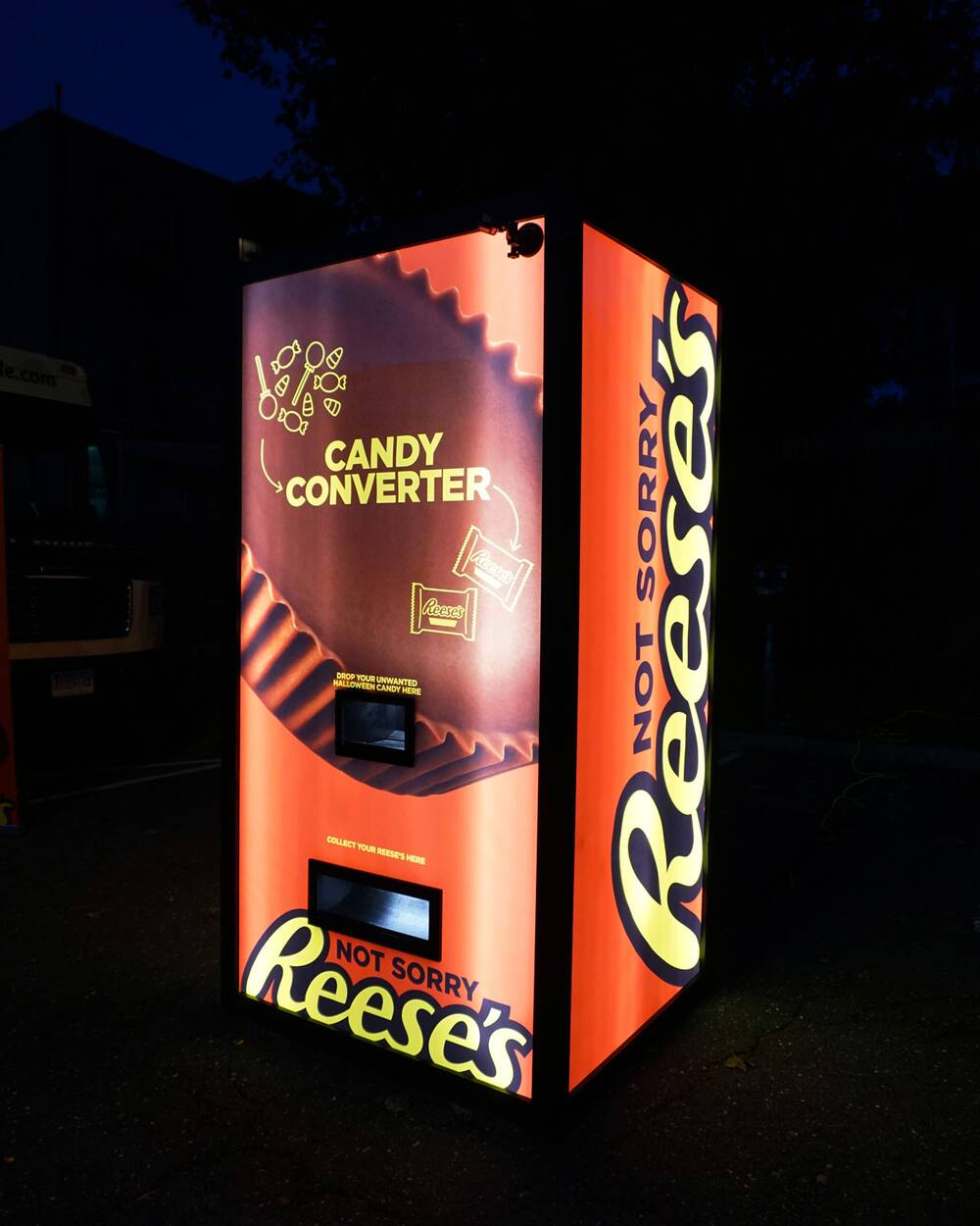 Image result for reeses vending machine halloween