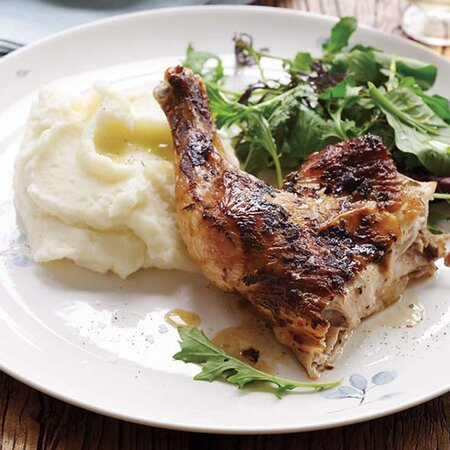 Quick Roasted Chicken With Mustard And Garlic Recipe Jacques Ppin