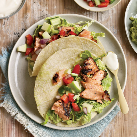 Chipotle-Rubbed Salmon Tacos
