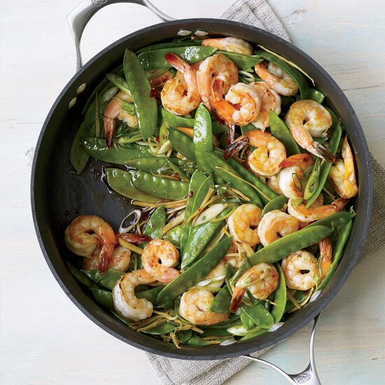 Fast and healthy shrimp recipes food wine gingered stir fry with shrimp and snow peas forumfinder