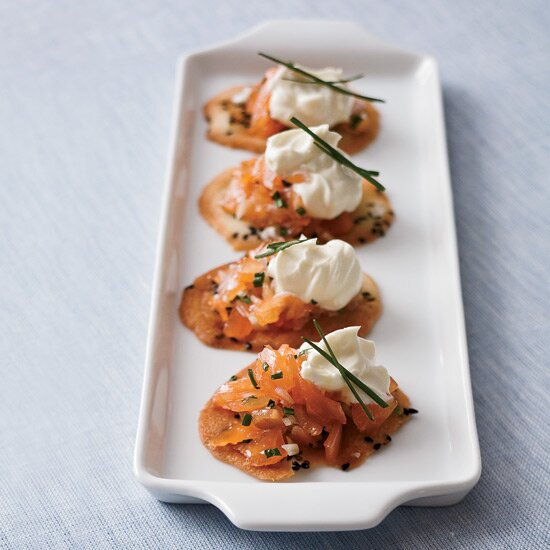 Chef holiday recipes made easy food wine smoked salmon crisps forumfinder Image collections
