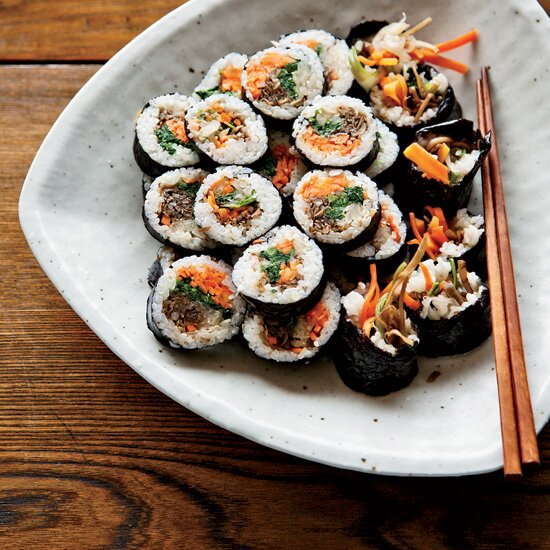 Healthy asian recipes food wine korean sushi rolls with walnut edamame crumble forumfinder Image collections