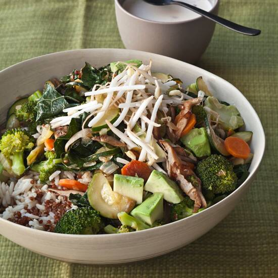 Best healthy recipes ever food wine quinoa and brown rice bowl with vegetables and tahini forumfinder Image collections