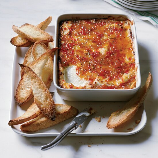 Easy dinner party recipes food wine pepper glazed goat cheese gratin forumfinder Gallery