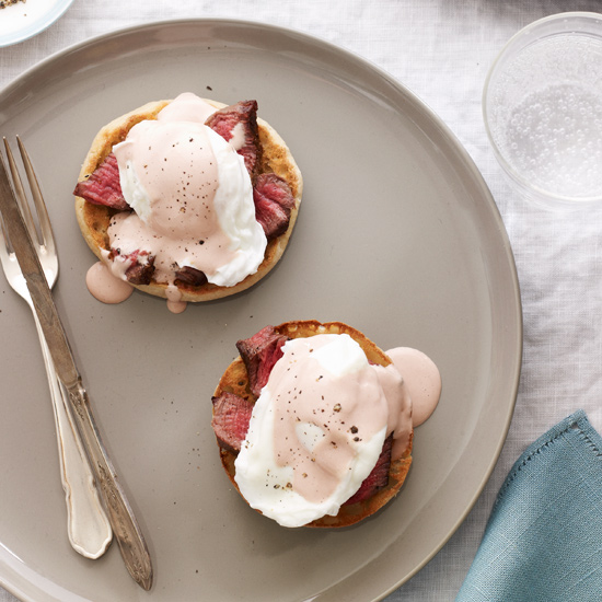 Steak and Eggs Benedict with Red Wine Hollandaise