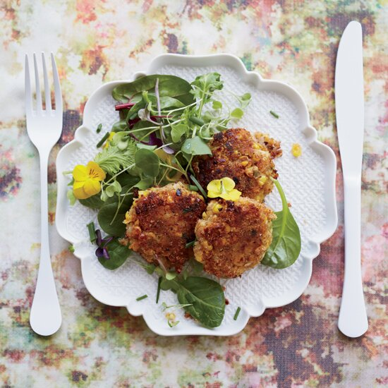 Quick vegetable main dishes food wine crabless cakes with hearts of palm corn forumfinder Image collections