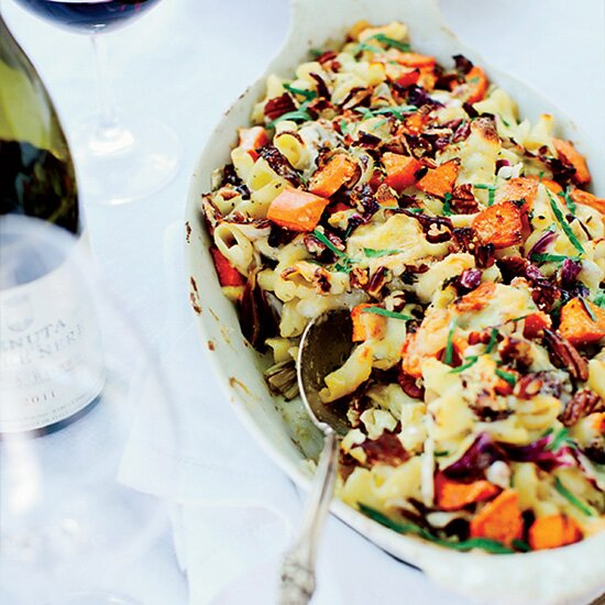 Best fall recipes food wine cheesy baked pasta with sweet potatoes and radicchio forumfinder Choice Image