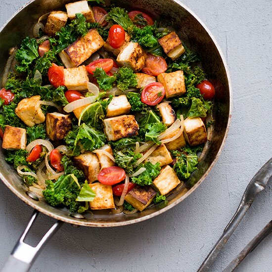 10 simple tofu recipes for beginner vegetarians food wine hd 201311 r tofu kale and tomatoes in forumfinder Choice Image