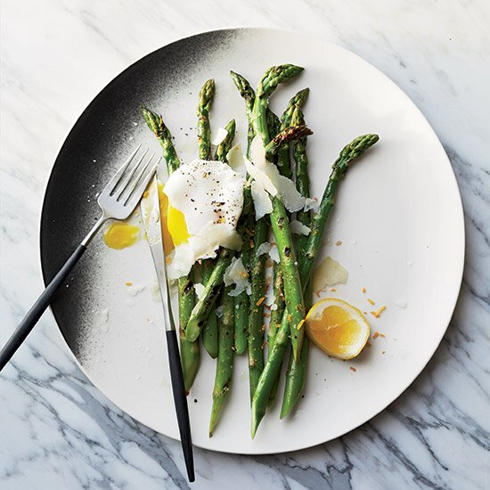 Vegetarian easter recipes food wine grilled asparagus with pecorino and meyer lemonpoached eggs forumfinder Image collections