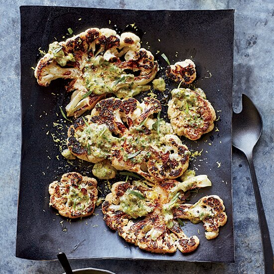 Chefs weeknight dinners food wine alex guarnaschelli cauliflower steaks with herb salsa verde forumfinder Gallery