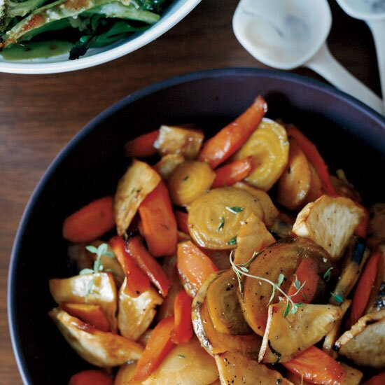 Healthy winter recipes for a crowd food wine honey glazed roasted root vegetables forumfinder Images