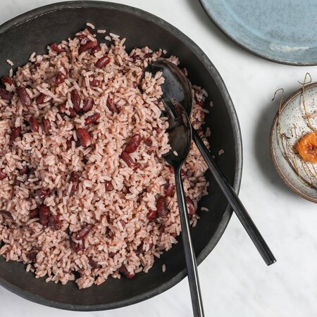 Jamaican Rice And Peas Recipe Briana Riddock Food Wine