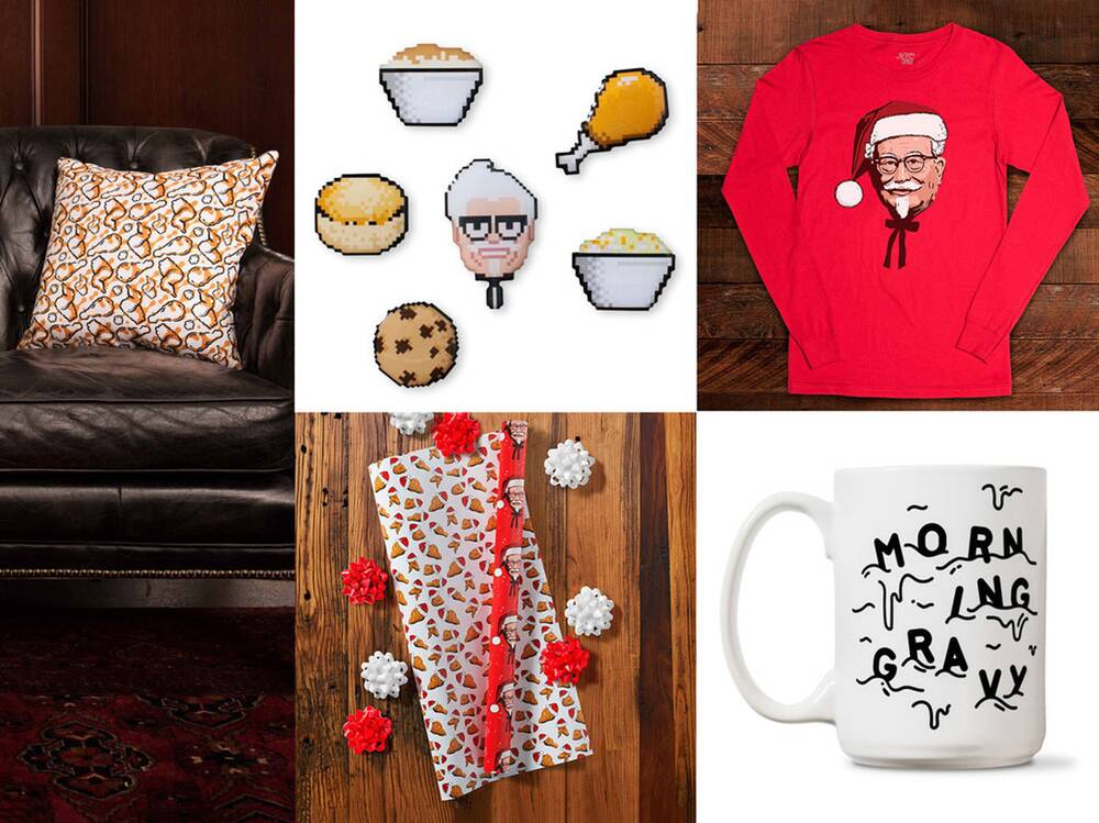 KFC\'s Collection of Chicken-Themed Christmas Gifts Is Finger ...
