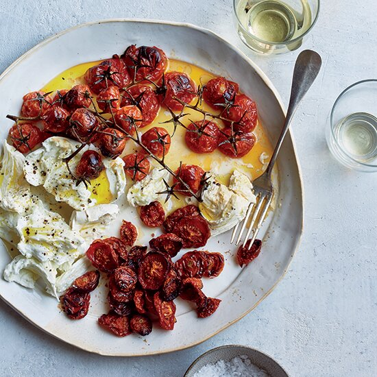5 tomato recipes with 5 ingredients or less food wine buffalo mozzarella with neat and messy roasted tomatoes forumfinder Image collections
