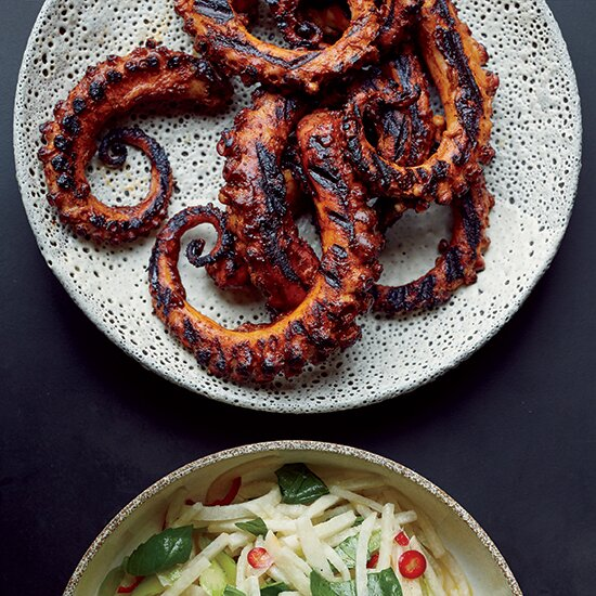 7 best recipes for octopus food wine grilled octopus with ancho chile sauce forumfinder Image collections