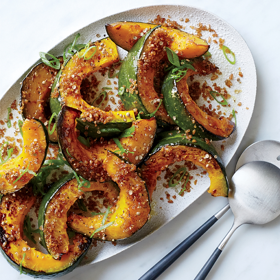 Bulgur-Topped Squash