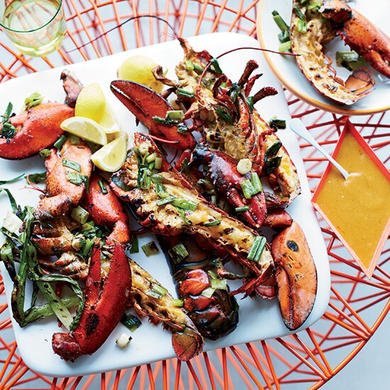 7 best ever lobster recipes for national lobster day food wine grilled lobster with miso chile butter forumfinder Gallery