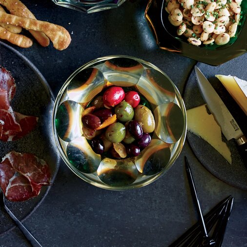 Christmas appetizers food wine marinated olives with orange forumfinder Choice Image