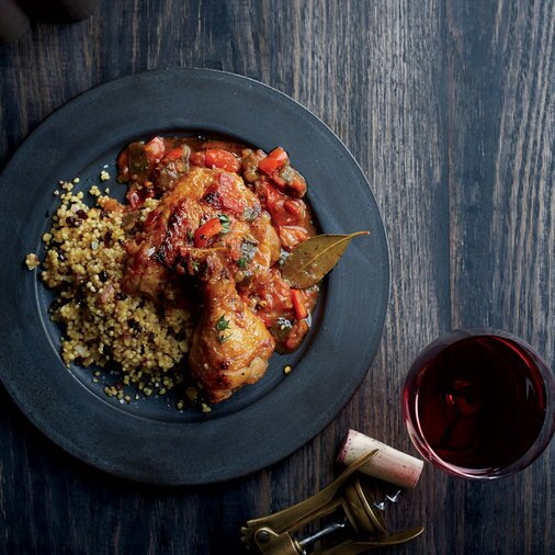 Spanish recipes food wine poulet basquaise with currant couscous forumfinder Image collections