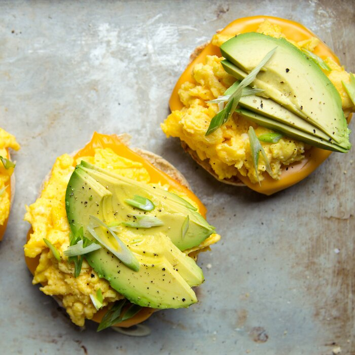 Scrambled egg and avocado breakfast sandwiches recipe kay chun egg sandwiches with avocado forumfinder Images
