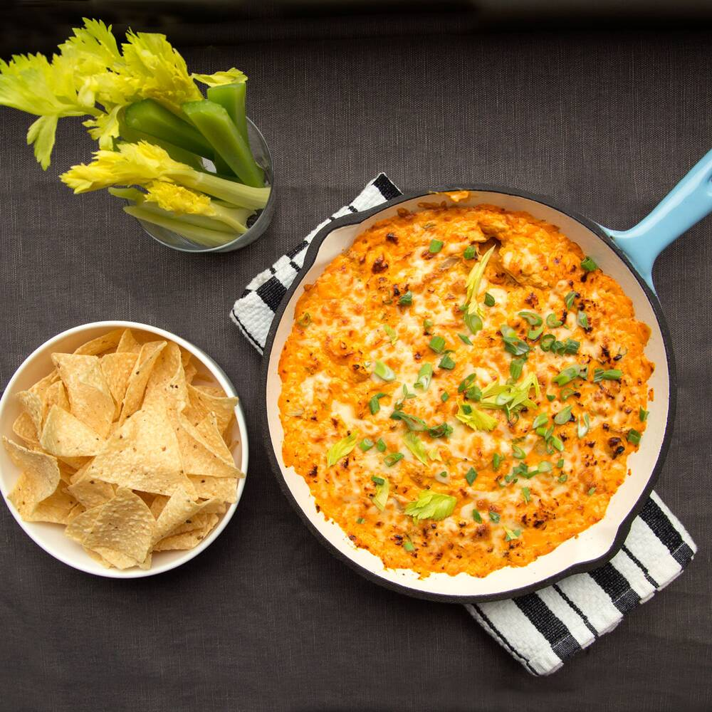 Buffalo chicken dip recipe justin chapple food wine buffalo chicken dip forumfinder Choice Image