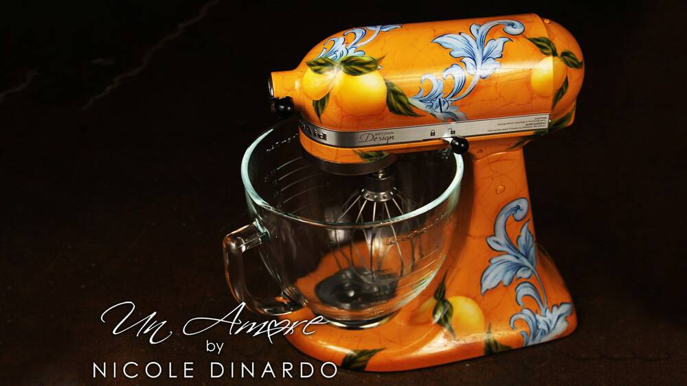 this artist will custom paint your stand mixer and beyoncé is a