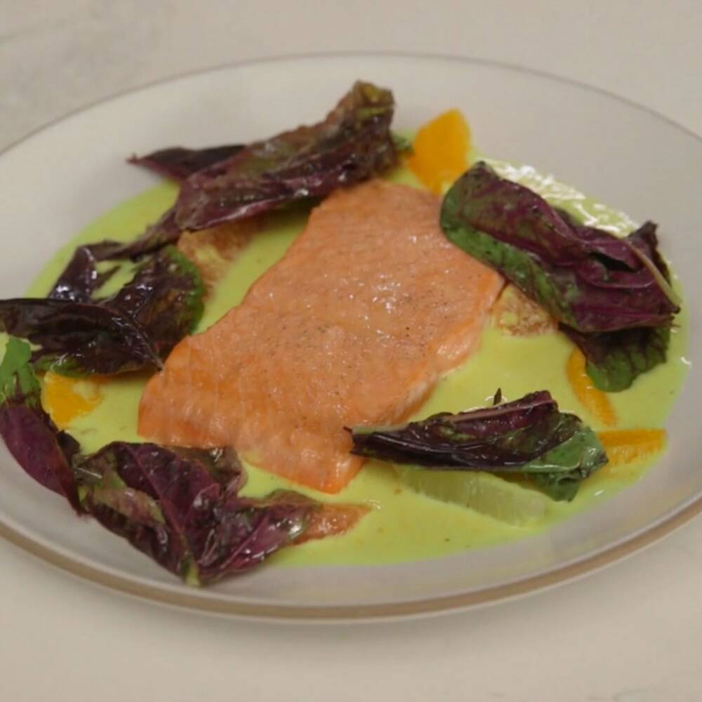 pan seared salmon with citrus curry sauce recipe ludo lefebvre