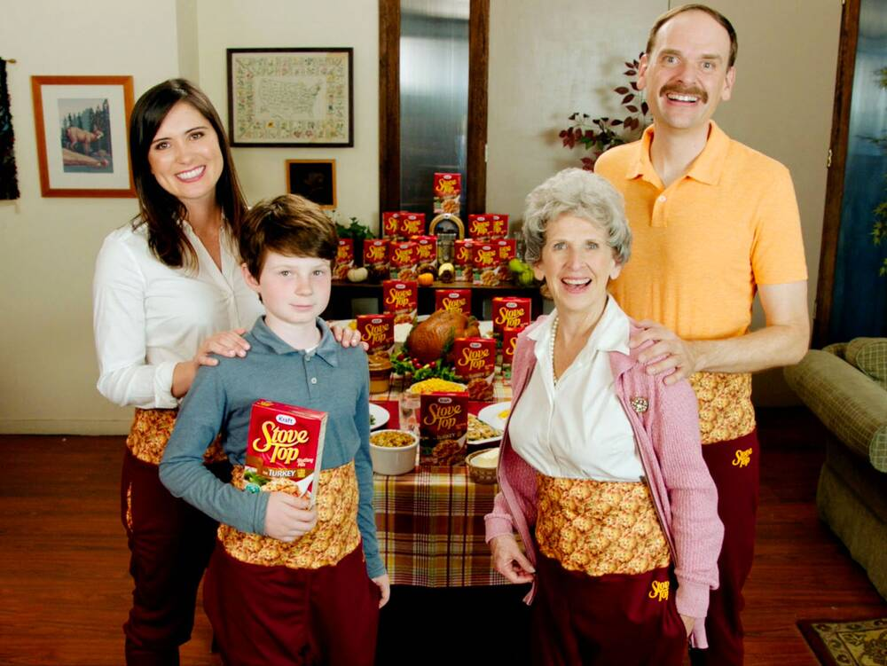 stove top stuffing has created its own thanksgiving dinner pants