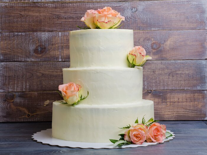 The top wedding food trends according to pinterest food wine wedding cake junglespirit Choice Image