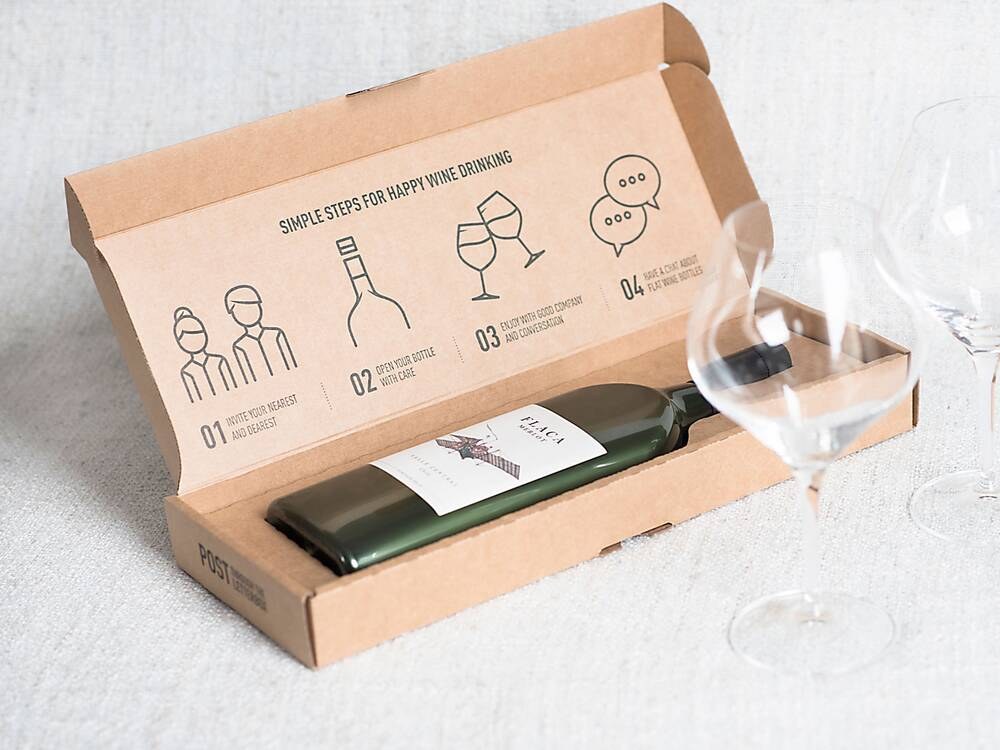 the world s first flat wine bottle won an award for packaging