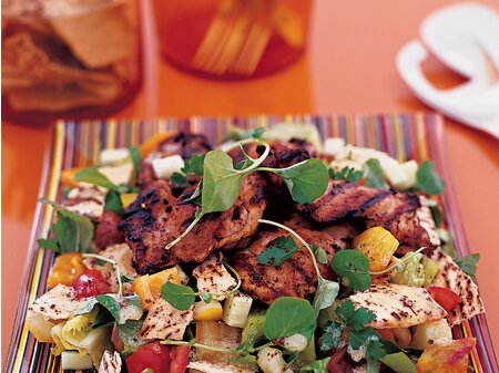 Lebanese Chicken Salad Recipe Michael Leviton Food Wine