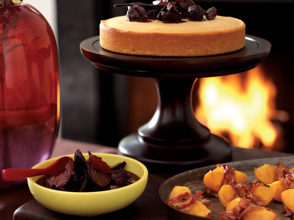 Semolina Cakes With Fig Compote Recipe Marion Hoezel Food Wine