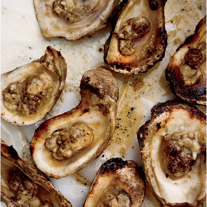 Grilled Oysters With Spicy Tarragon Butter Recipe Bobby Flay
