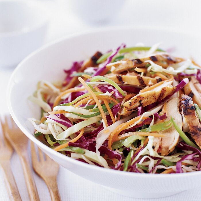 Grilled chinese chicken salad recipe grace parisi food wine grilled chinese chicken salad forumfinder Choice Image