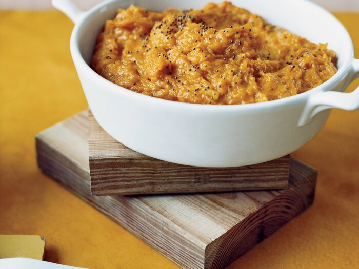 Mashed winter squash with indian spices recipe marcia kiesel fw200611sidedishes7g forumfinder