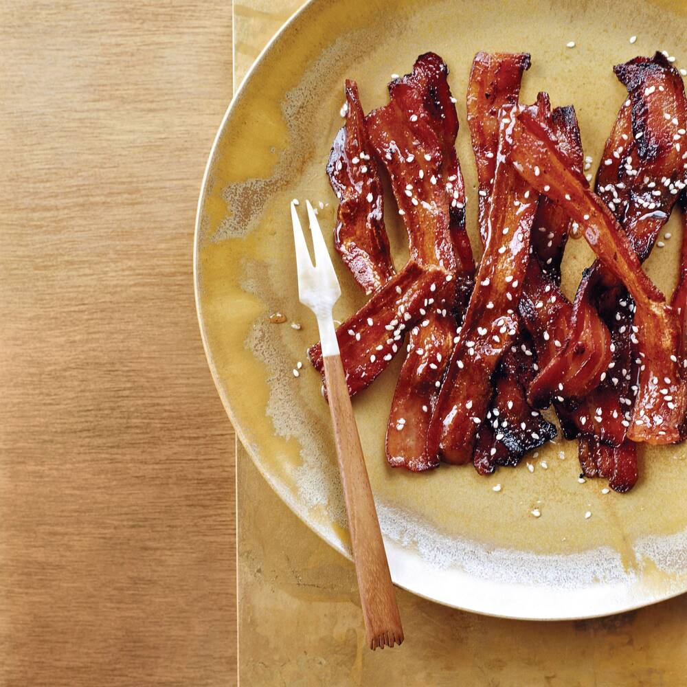 spicy honey glazed bacon recipe grace parisi food wine