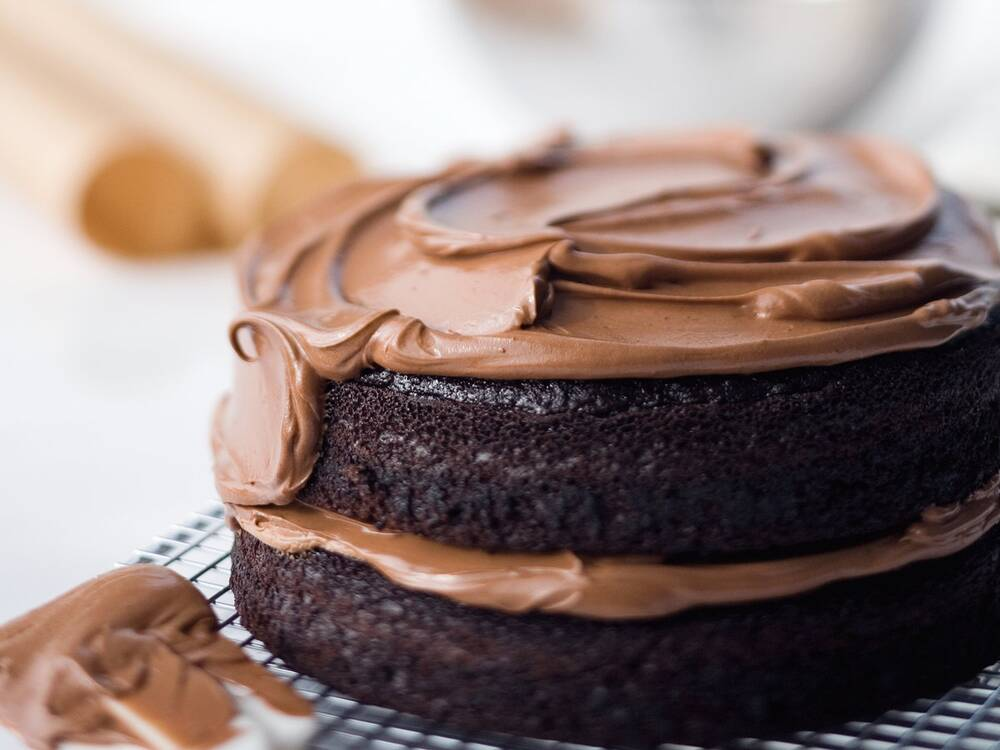 Double Chocolate Layer Cake Recipe Ina Garten Food Wine