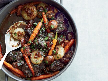 Beef Stew In Red Wine Sauce Recipe Jacques Pepin Food Wine