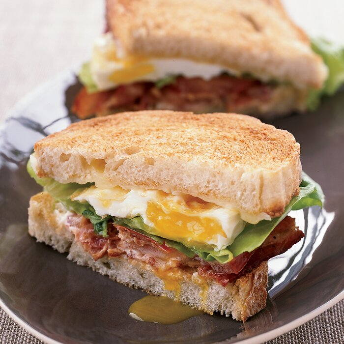 BLT Fried Egg And Cheese Sandwich Recipe
