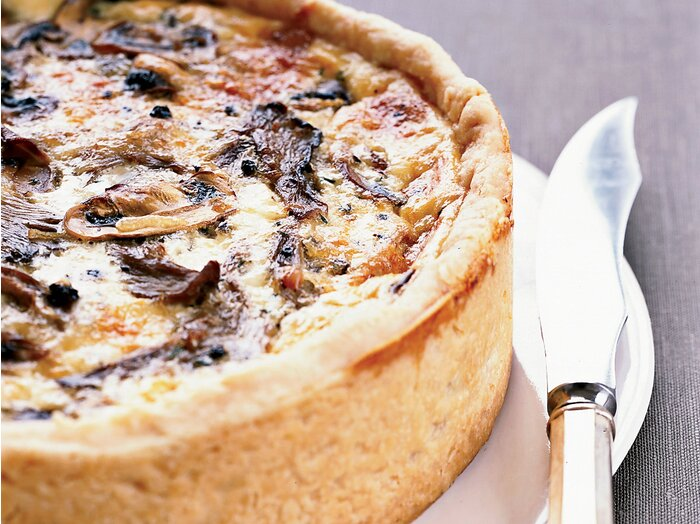 Over the top mushroom quiche recipe thomas keller food wine fw200707quicheg forumfinder Image collections