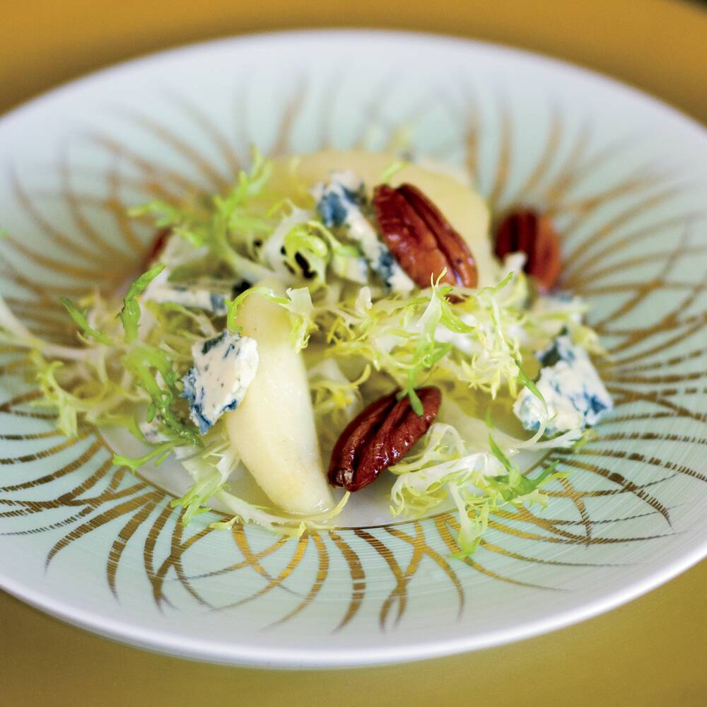Chicory salad with quince and pecans recipe john besh food wine fw200712rtoundrawinterg forumfinder Choice Image