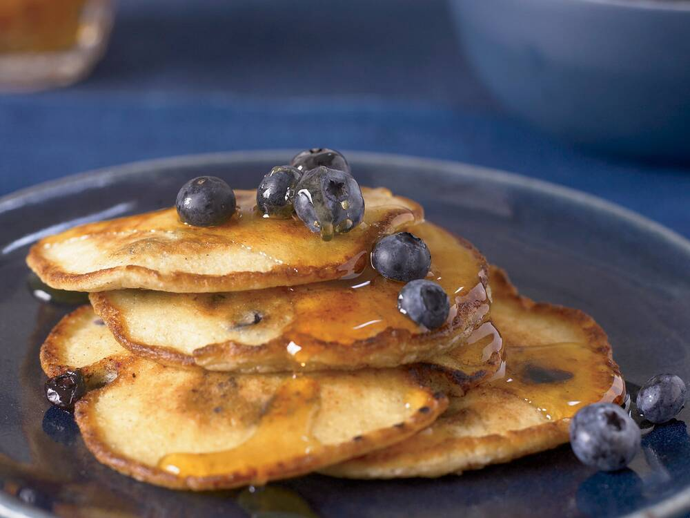 Ricotta pancakes with blueberries recipe neal fraser food wine fw200801rblueberrypang forumfinder Gallery