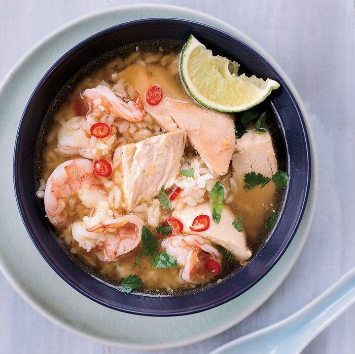 Cambodian chicken and rice soup with shrimp recipe ratha chau 200803 r chicken rice soupg forumfinder Gallery