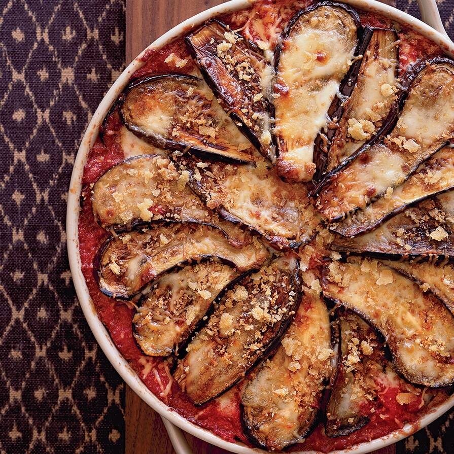 eggplant parmesan with crisp bread crumb topping recipe ethan