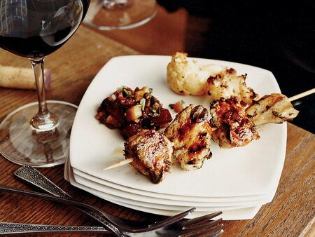 Herb Marinated Chicken Skewers With Harissa Recipe Andres Barrera