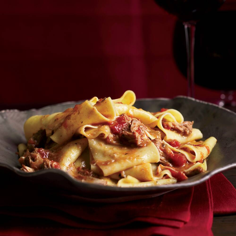 pappardelle with veal ragù recipe grace parisi food wine
