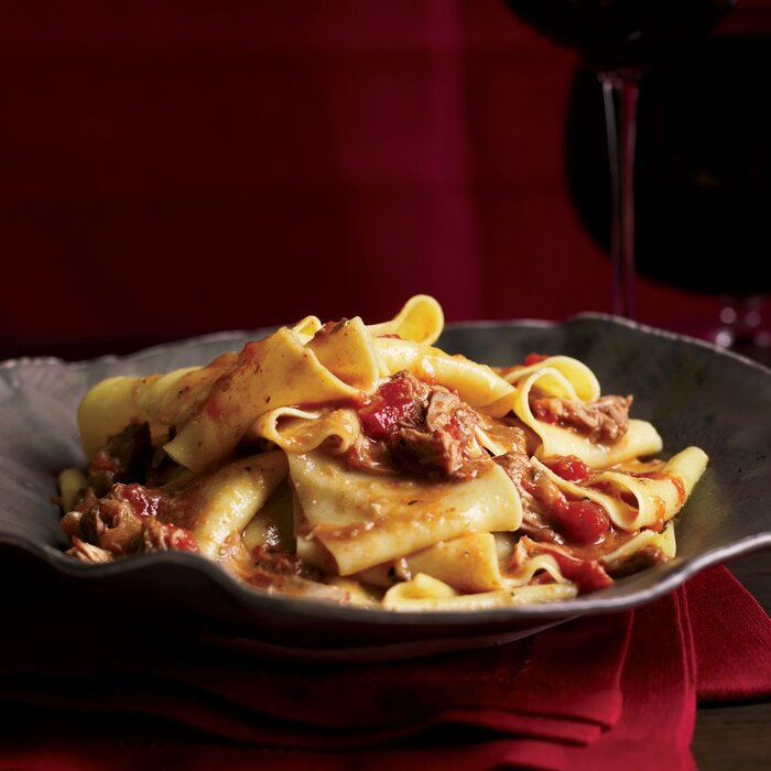 Pappardelle with veal rag recipe grace parisi food wine forumfinder Image collections